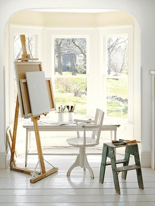 Espacio de arte blanco