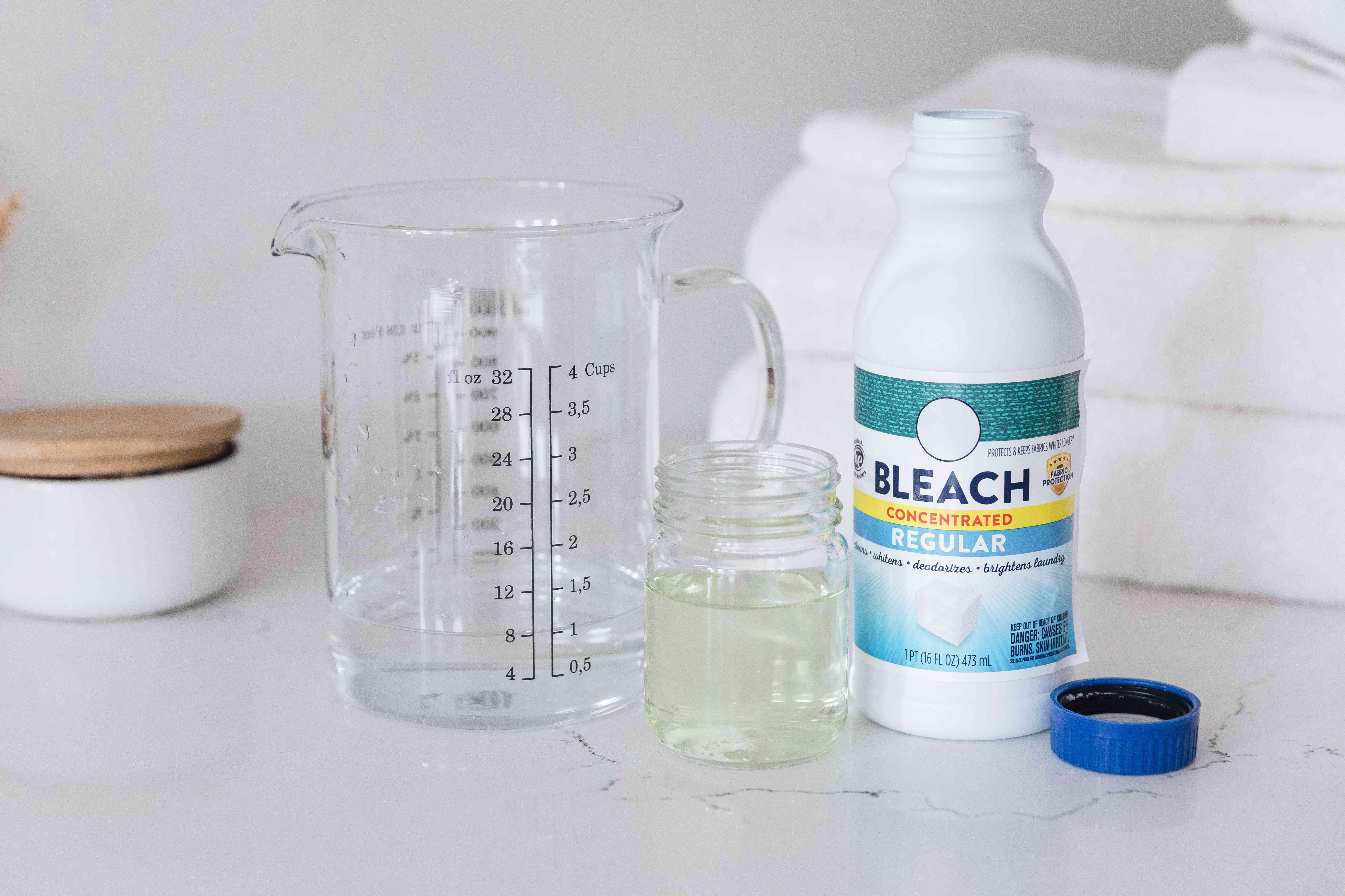 diluting bleach