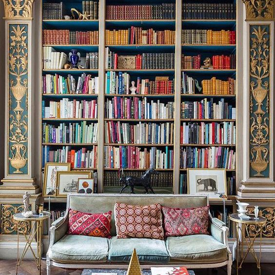 Home library with classic architecture