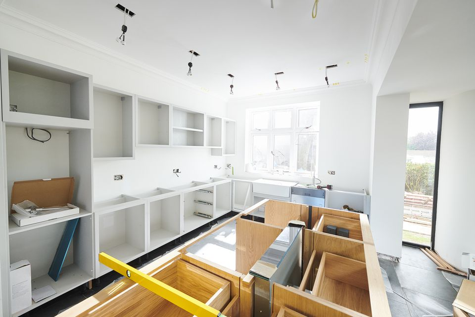 kitchen install progress