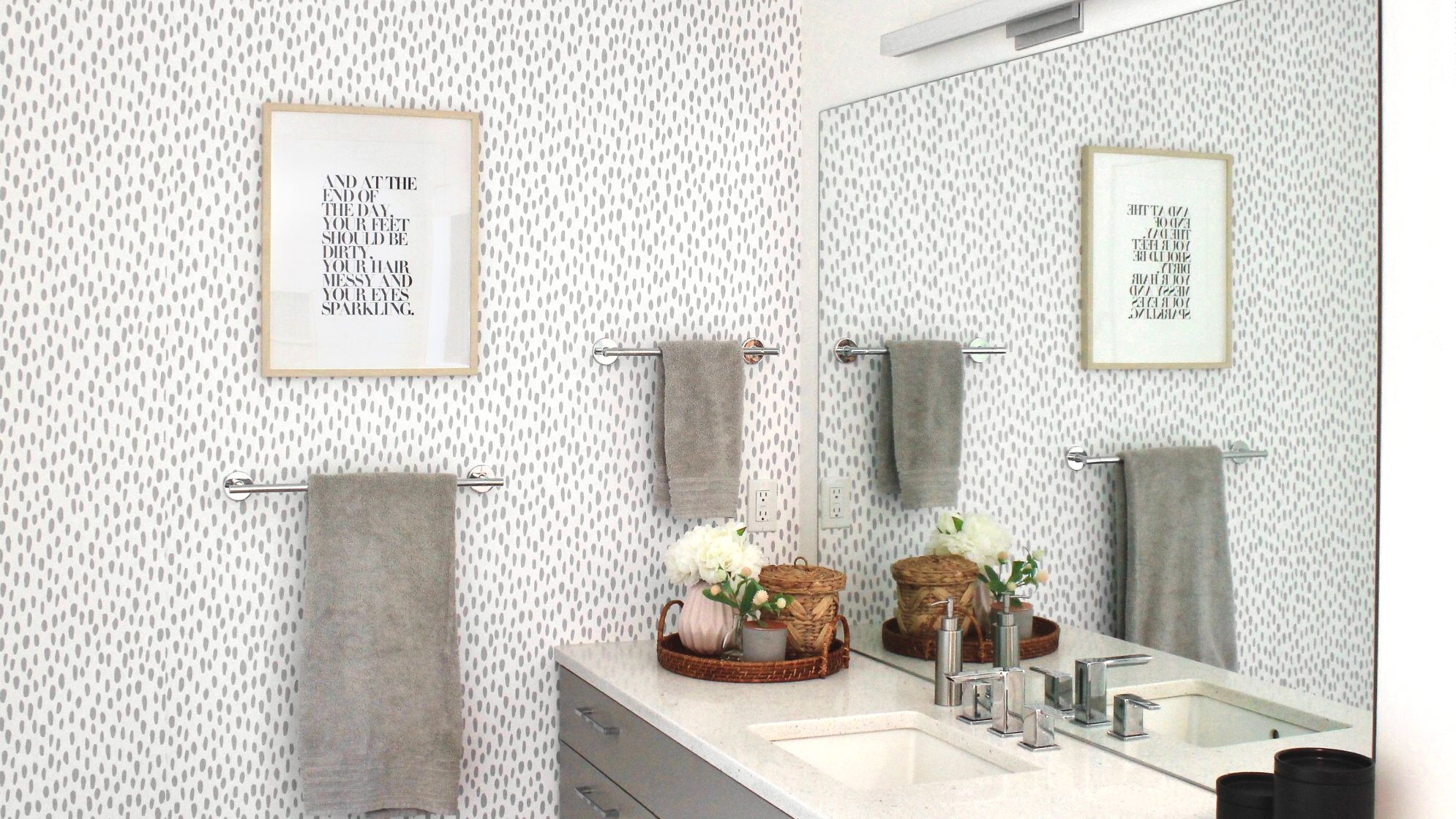9 Classic Gray and White Bathrooms