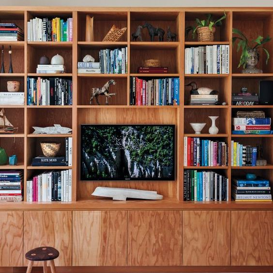 Home library and entertainment center