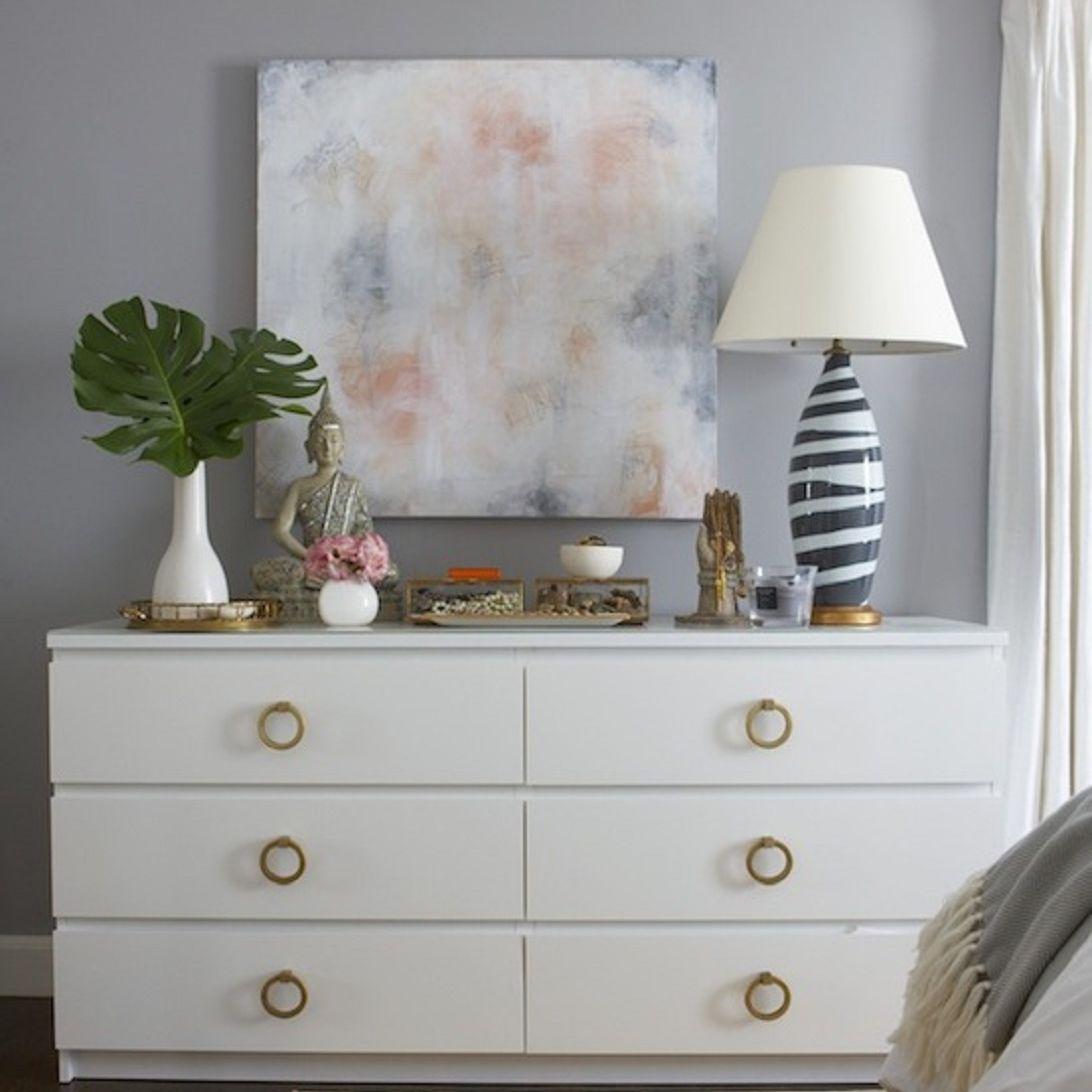 Styled dresser top