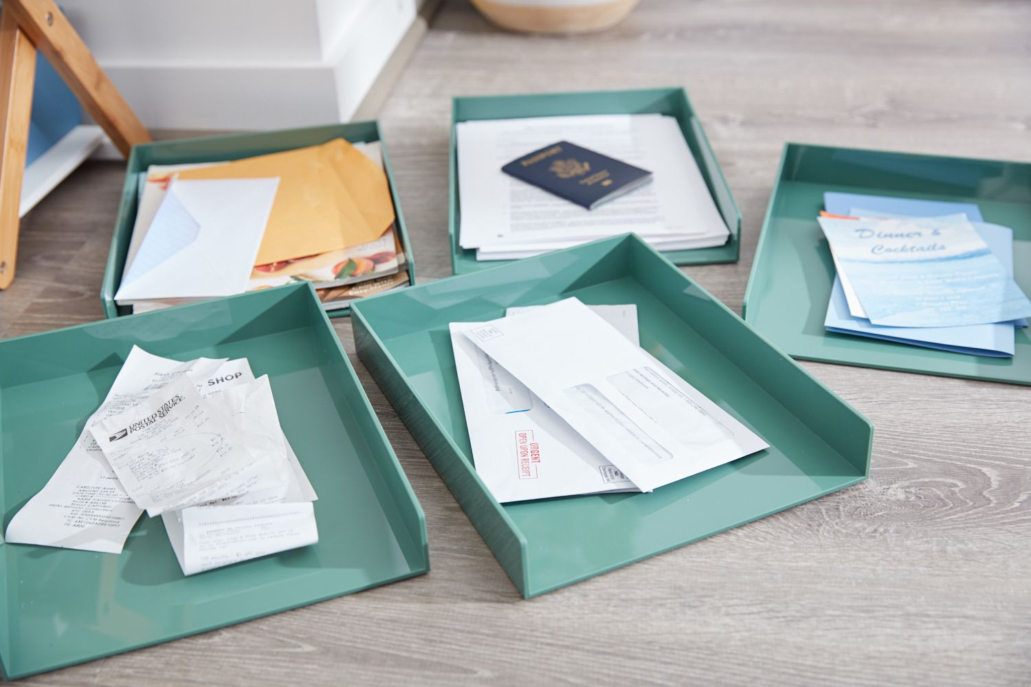 Separated papers in 5 categories