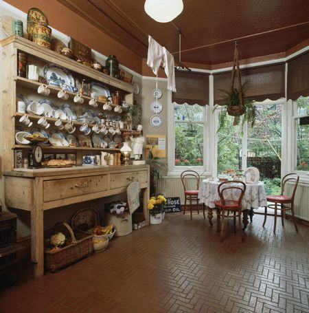 Brick Flooring in Kitchens