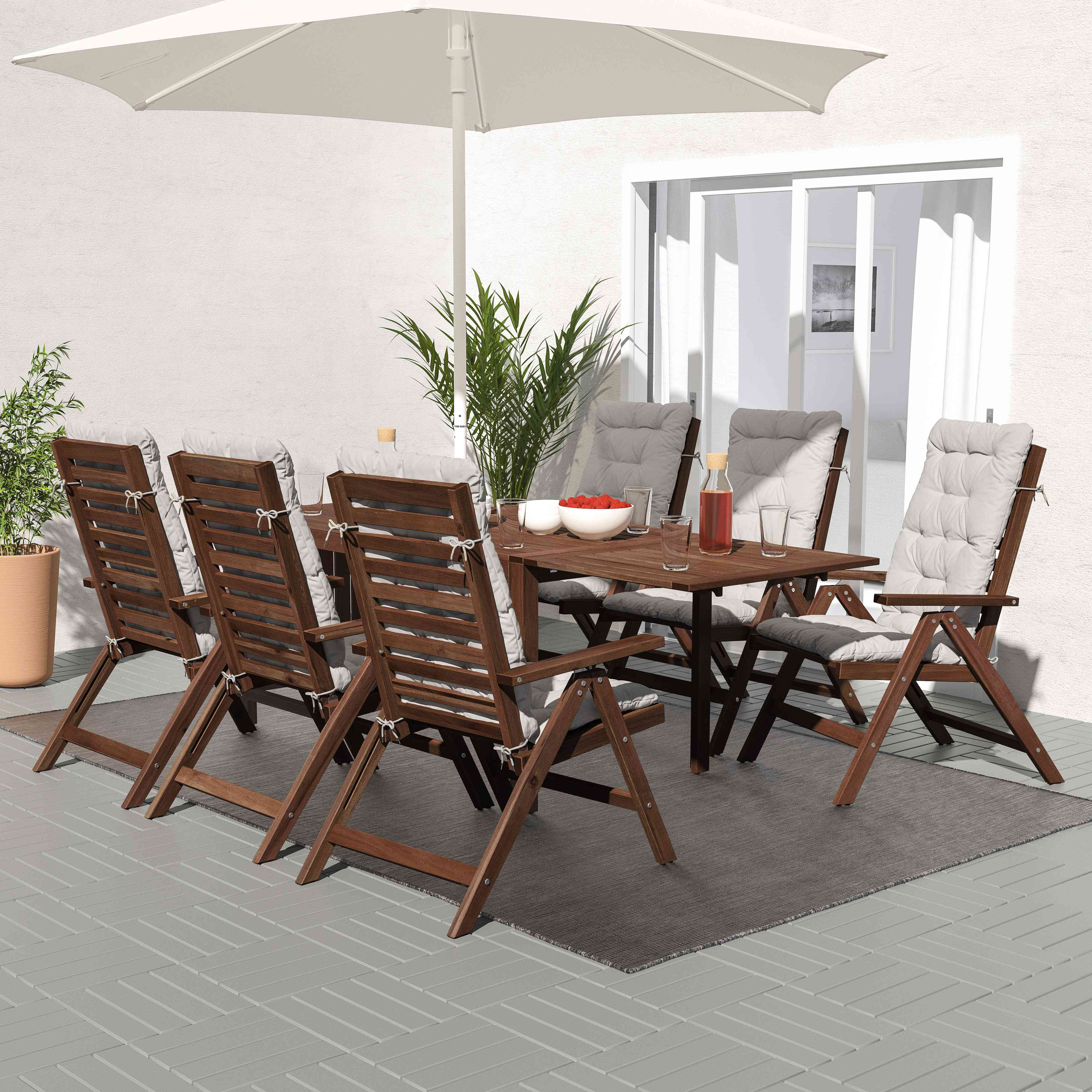 IKEA APPLARO Outdoor Table and Chairs
