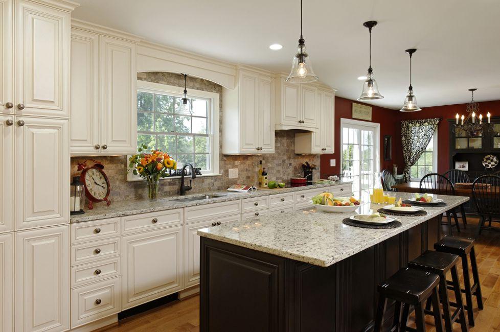 Black and white speckled granite countertops