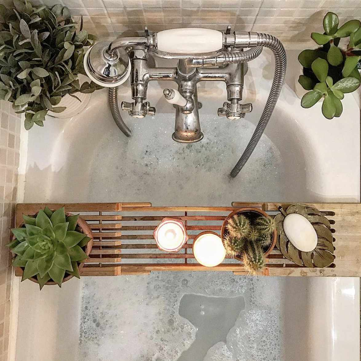 tub with plants