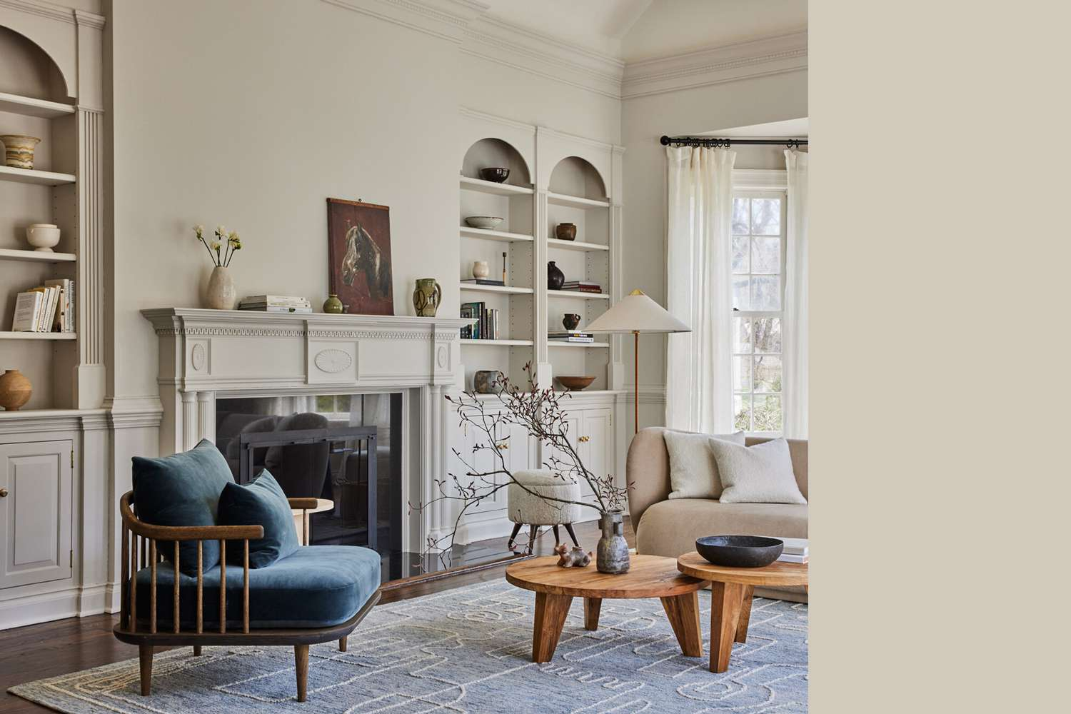 Interior painted a similar color to Glidden Moth Gray