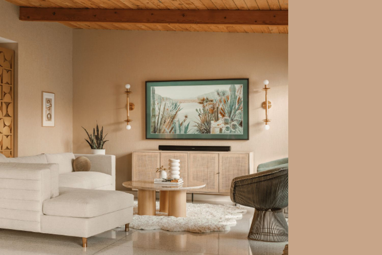 Interior painted a similar color to Totally Tan by Sherwin Williams