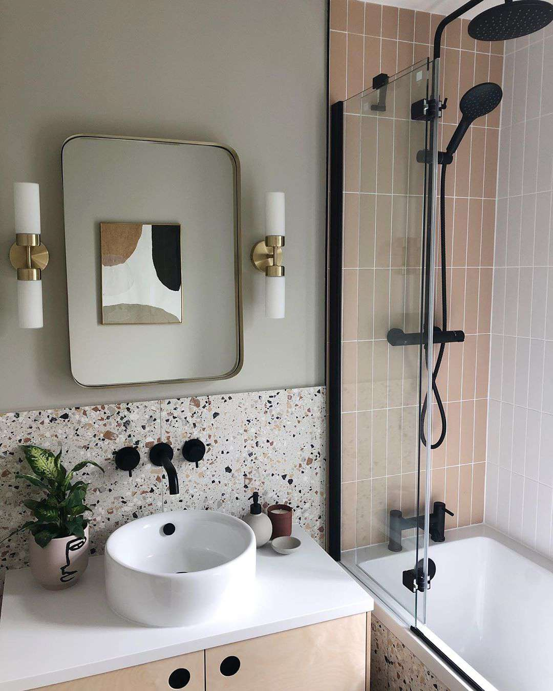 Bathroom with terrazzo tile
