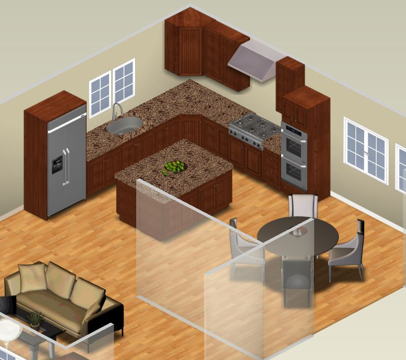 Kitchen Floor Plans With Dimensions 8 X 12 Yptzautc: L-Shaped Kitchen Layouts