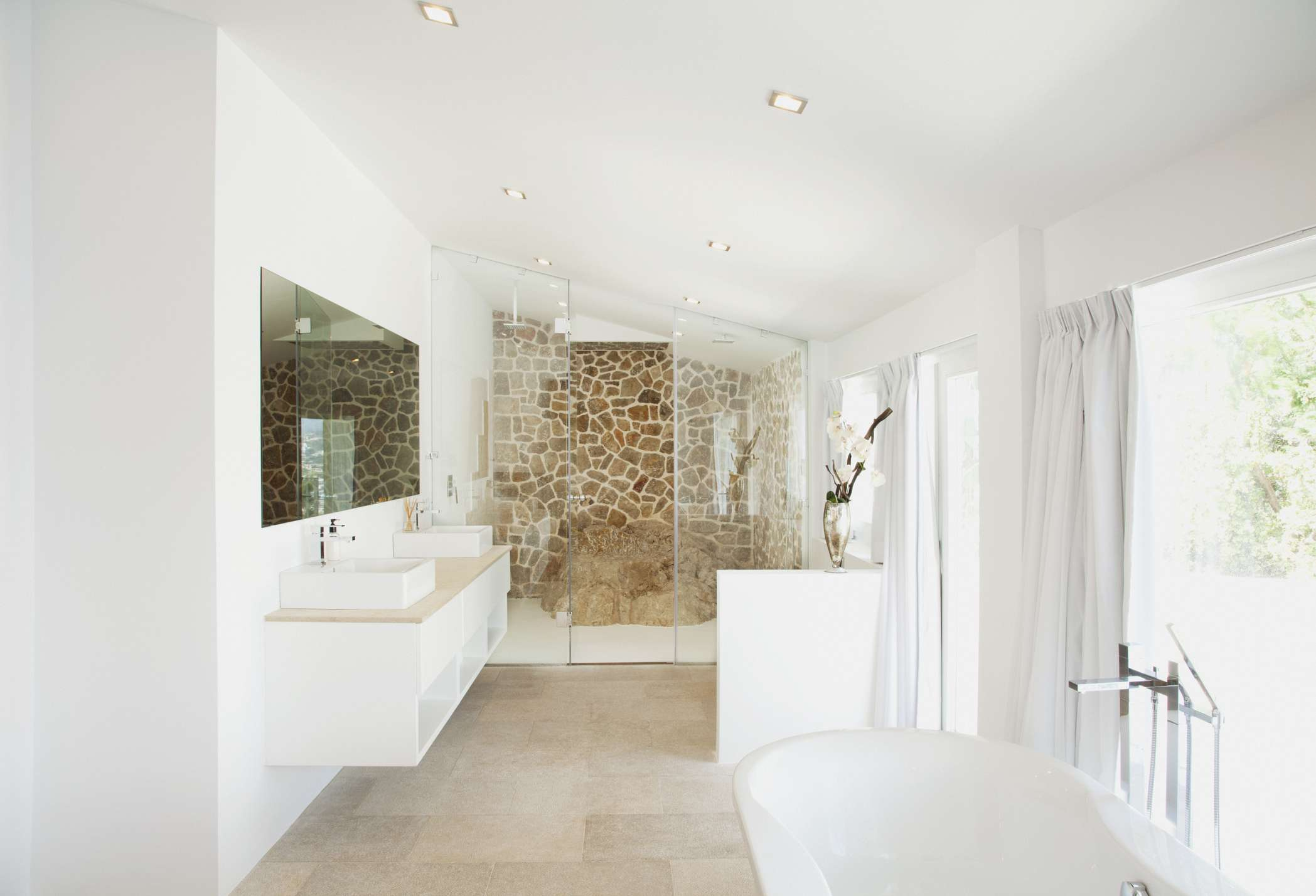 Modern French country style bathroom