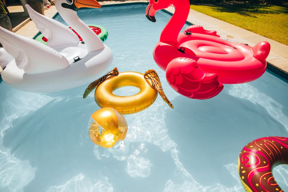 Pool party inflatables