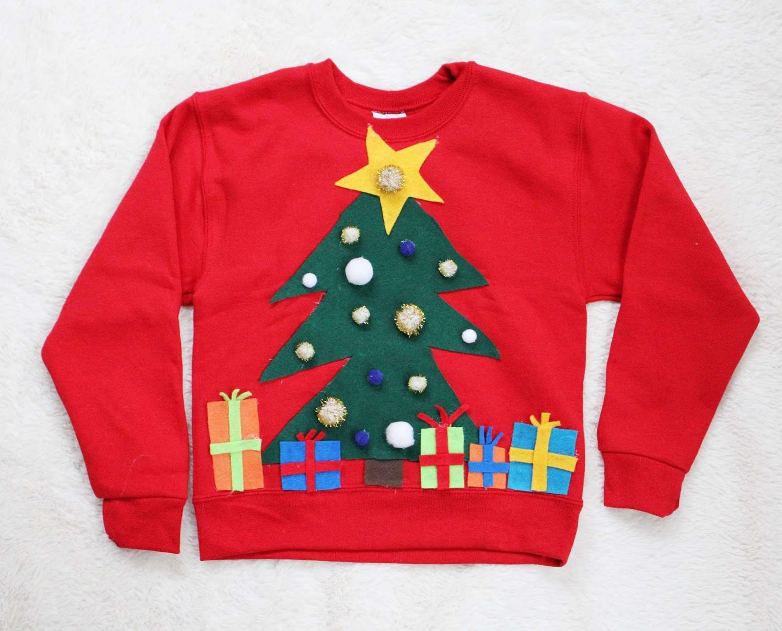 A red kids Christmas sweatshirt