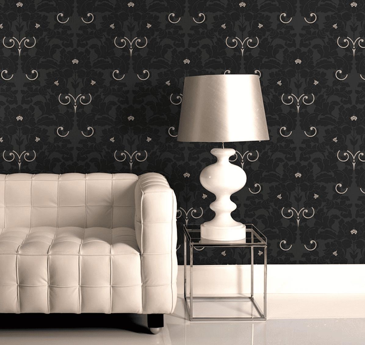 Gorgeous charcoal wallpaper