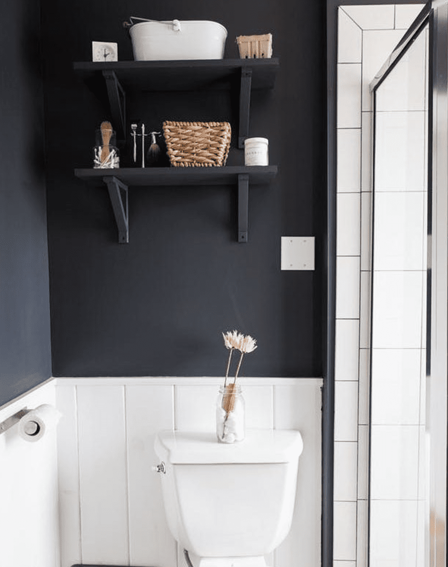 Dark Gray Bathroom Shelf