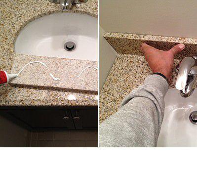 "installing a 4"" backsplash"