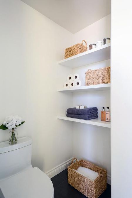 Open Bathroom Shelves