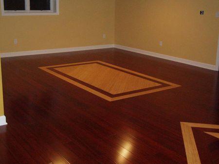 Inlaid Bamboo Basement Floors