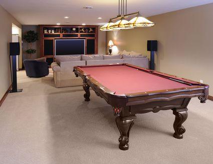 Modern Game Room; Pool Table, Custom Lighting, HDTV, Surround Sound