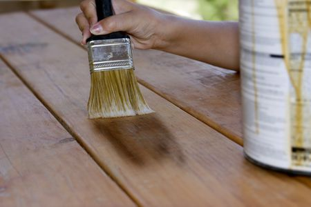 Staining A Picnic Table