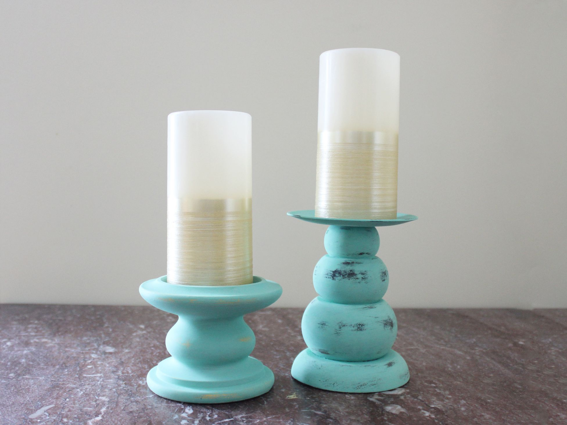 How To Paint Candlesticks With Chalk Paint