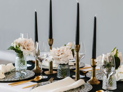 Fall tablescape with vases