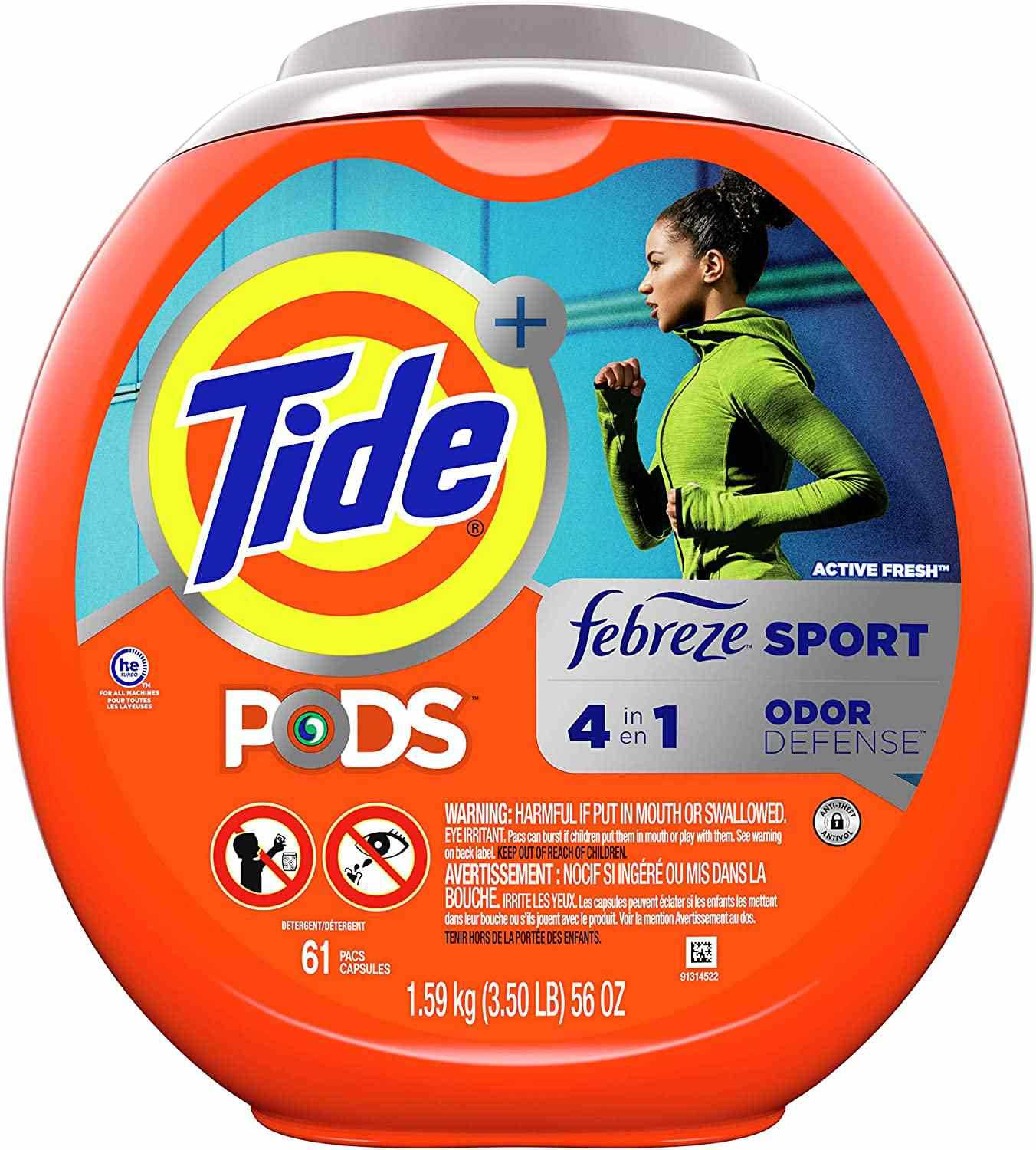 Tide PODS 4 in 1 HE Turbo Laundry Detergent