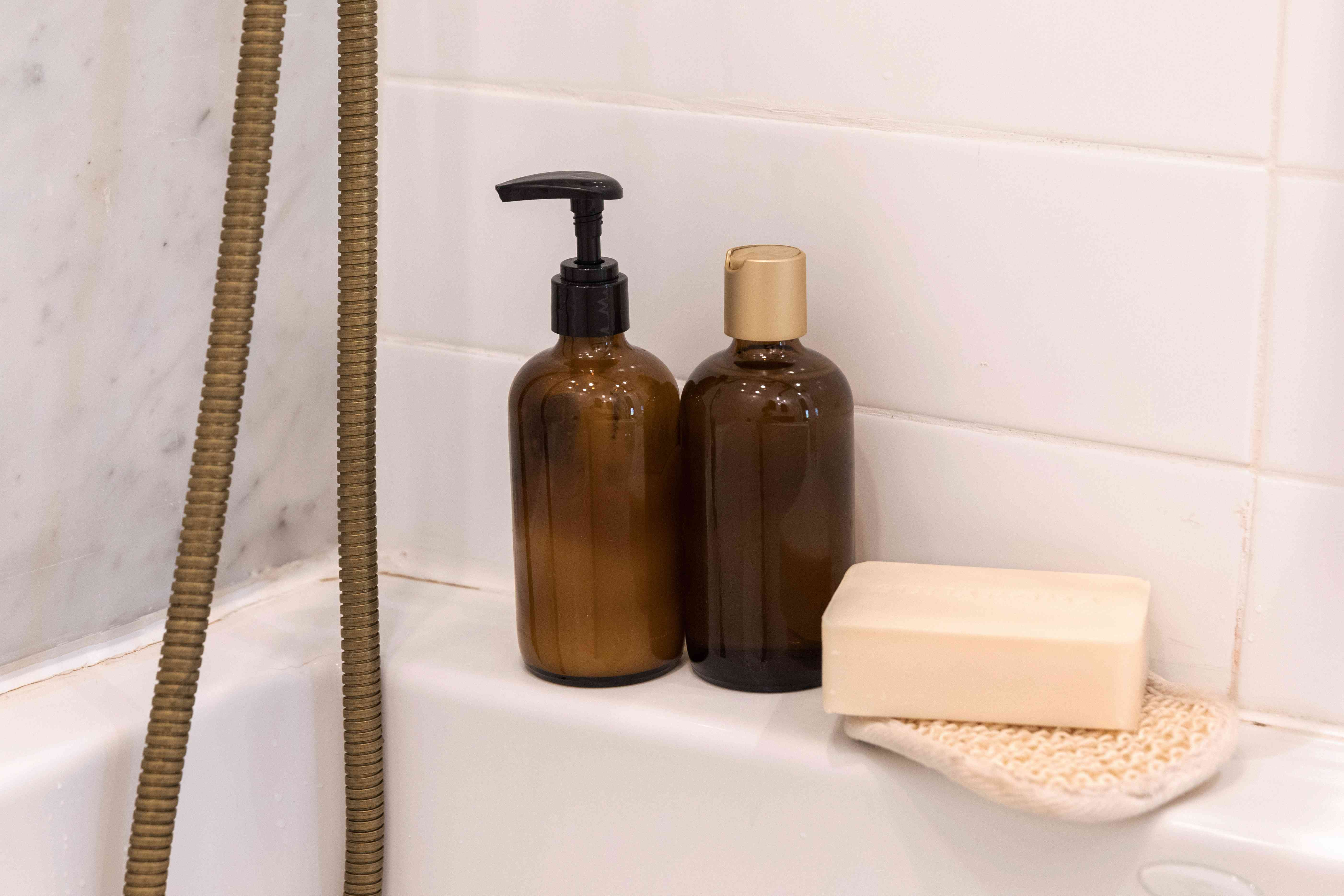 keeping frequently used shower items close by