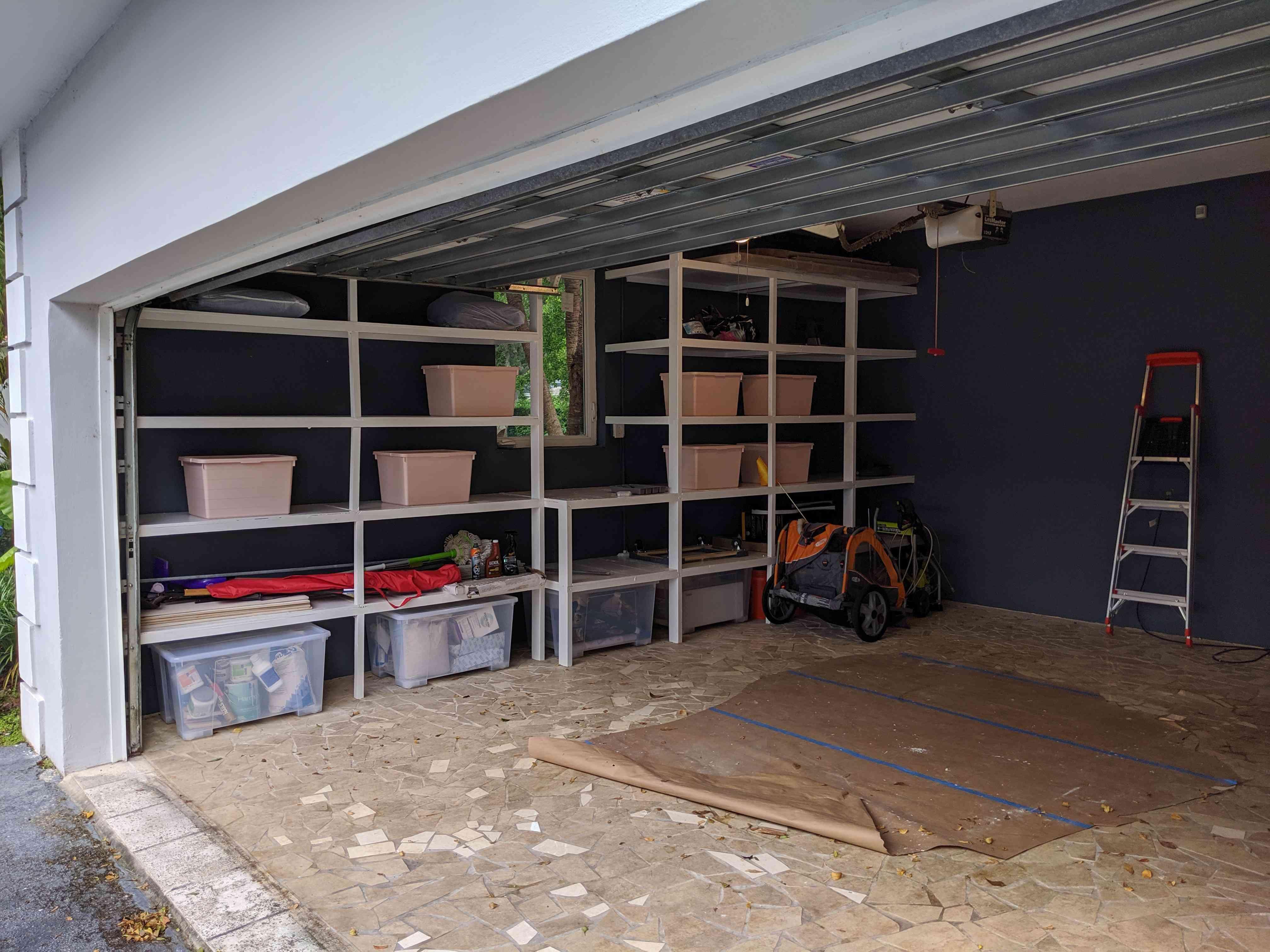 almacenamiento en el garaje