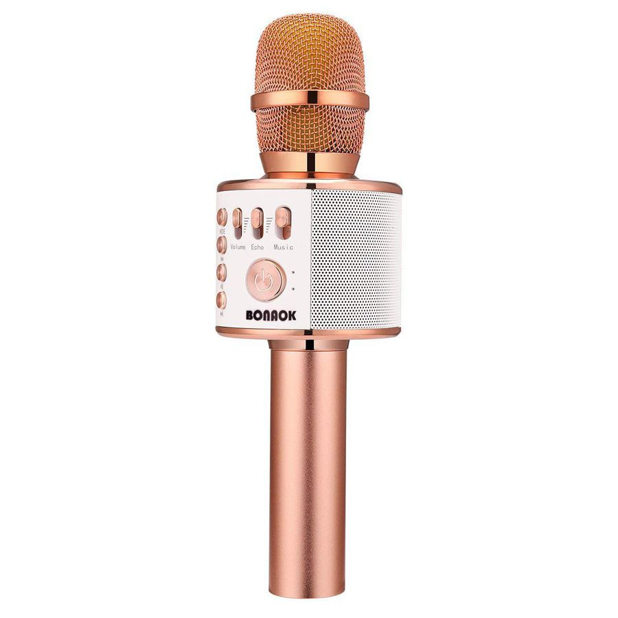 Kids Karaoke Microphone with Adjustable Stand Light Sound Xmas Birthday Gift UK
