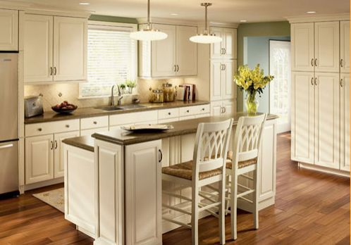 Luxury Coconut Colored Kitchen Cabinets