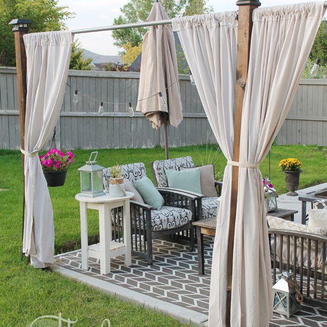 A backyard porch
