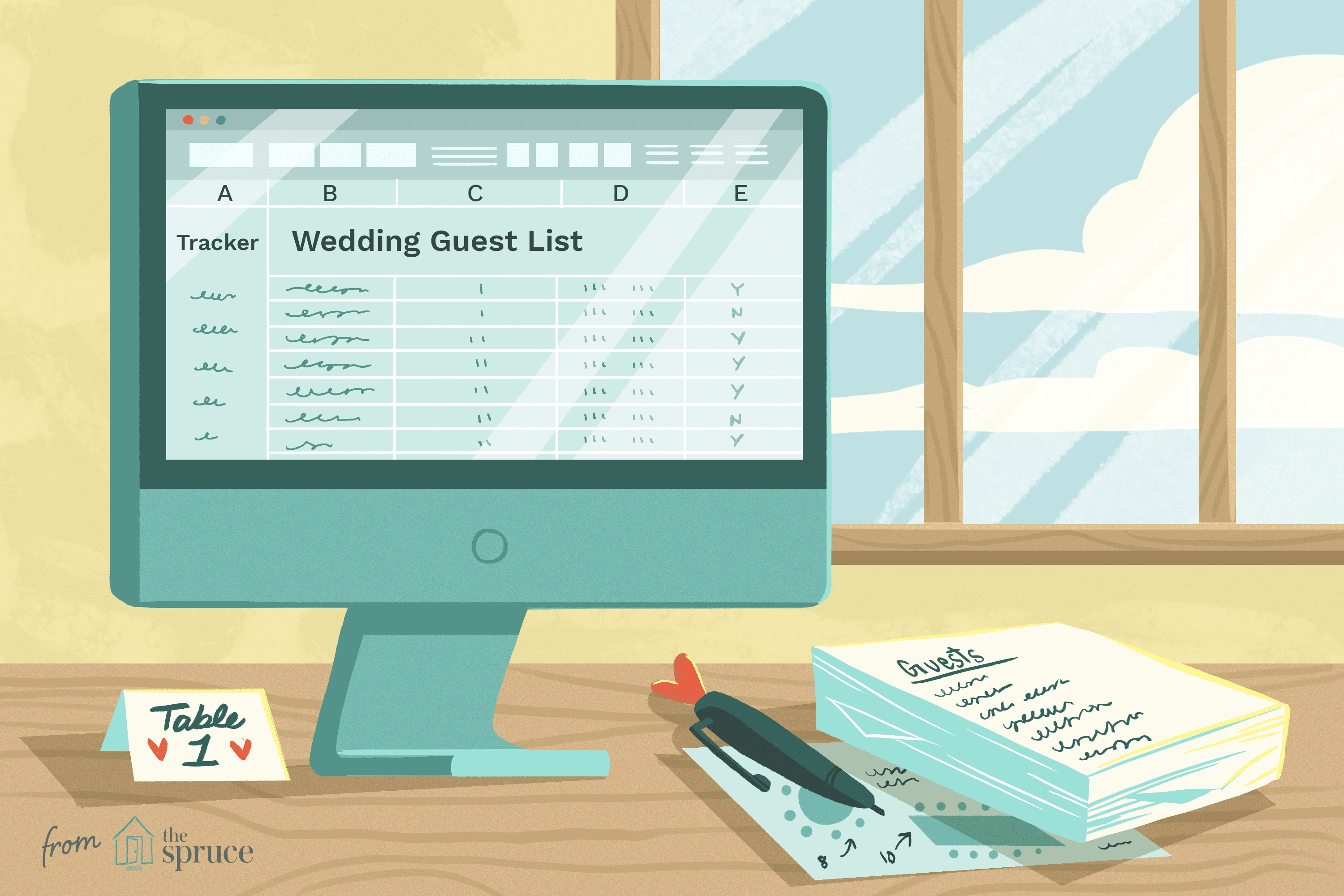8 Free Wedding Guest List Templates And Managers
