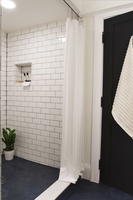 Bathroom With Dark Tile