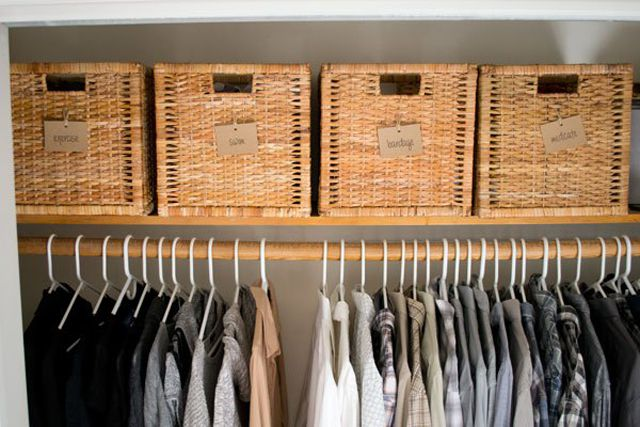 Label Your Storage Labeled Baskets In The Closet