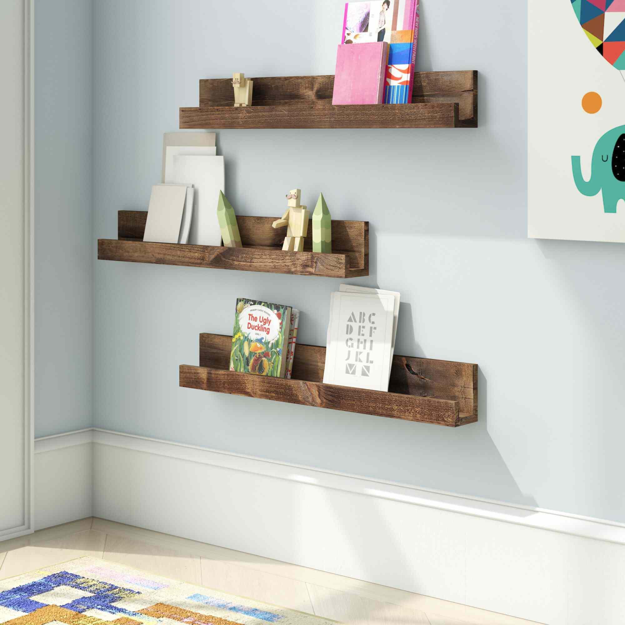 Three Posts Baby & Kids Rutter Solid Wood Alder Floating Shelf