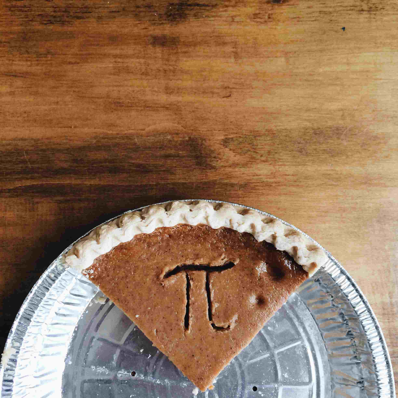 Pi day slice of pie