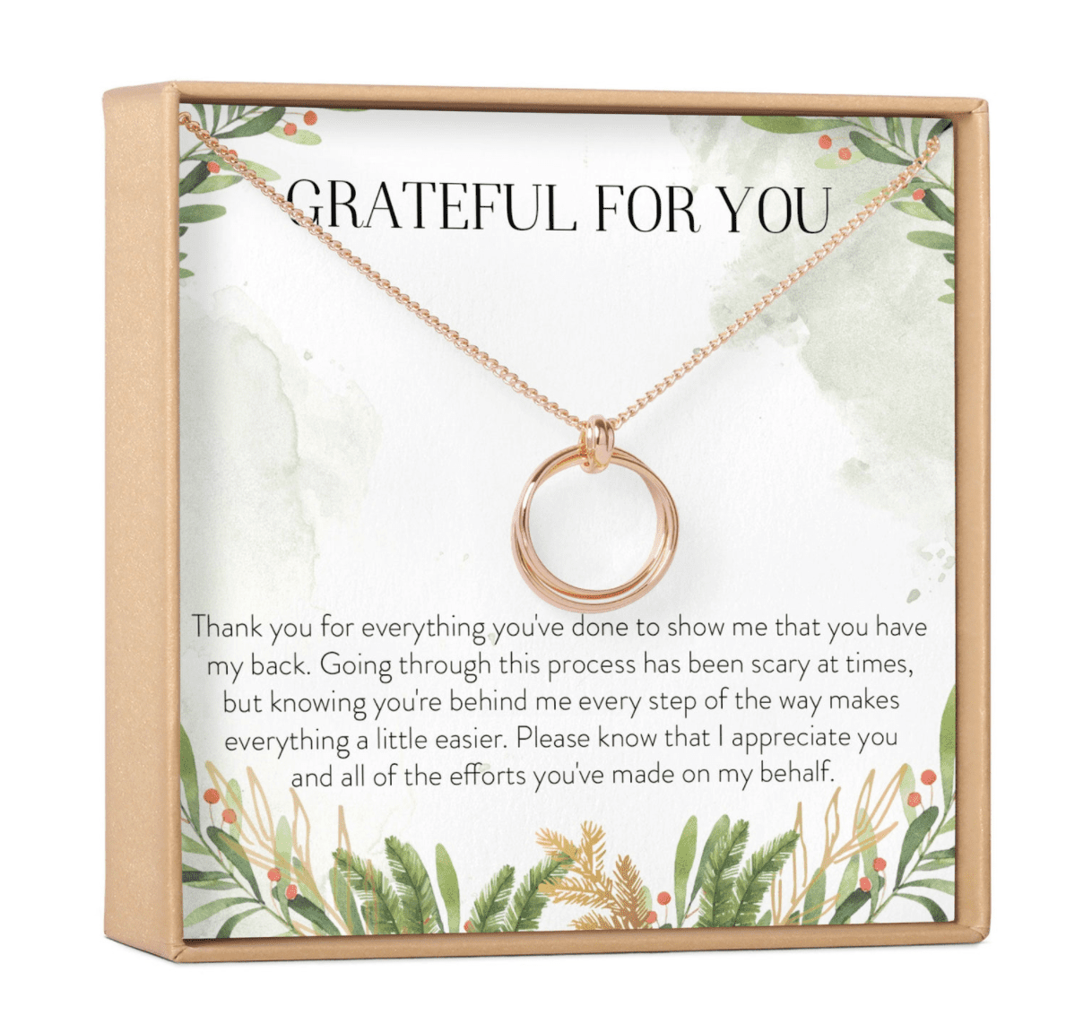Etsy Thank You Gift Necklace