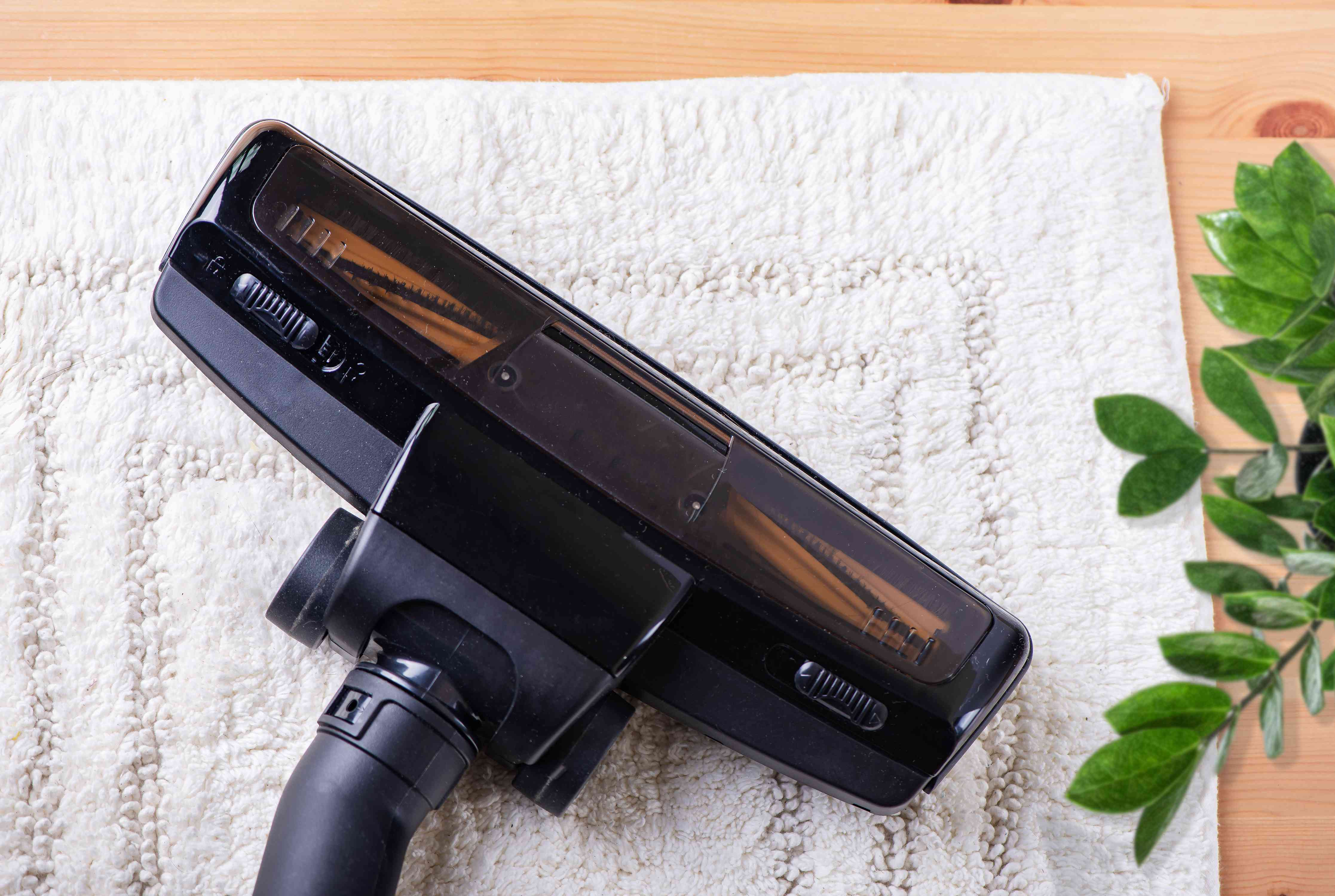 air drying and vacuuming the rug