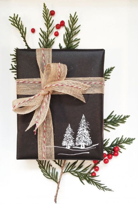 black chalkboard wrapping paper