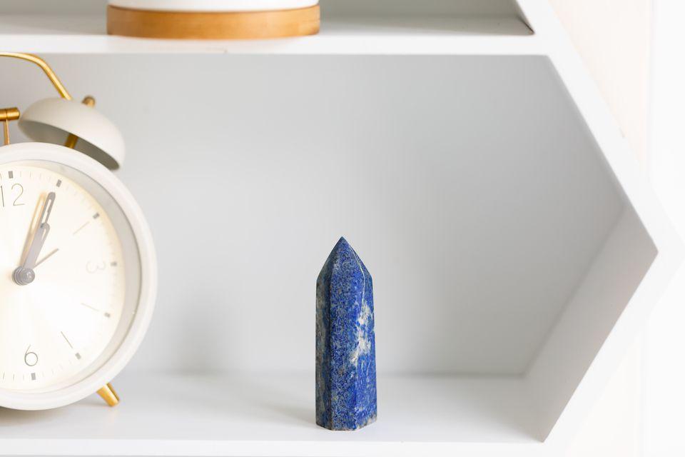 lapis lazuli on a shelf