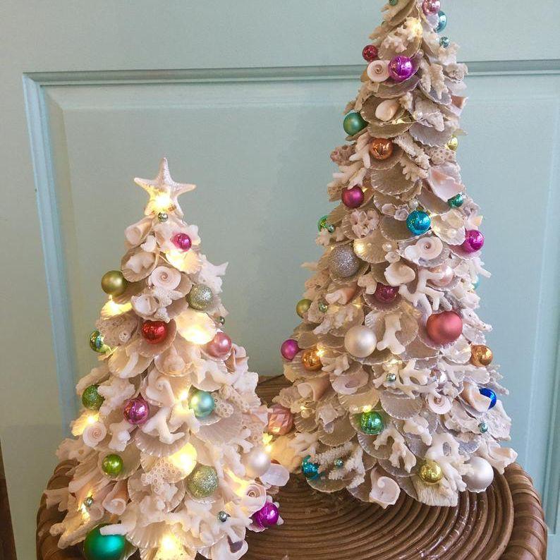 DIY Sea Shell Christmas trees