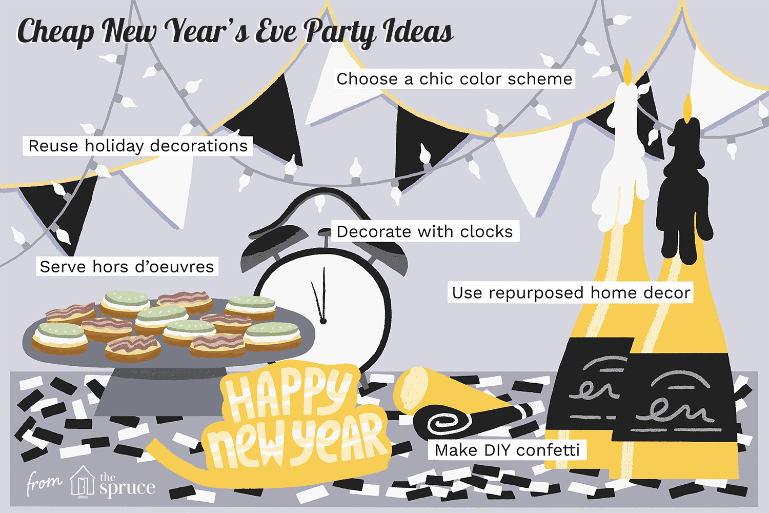 decorating for new years eve party ideas