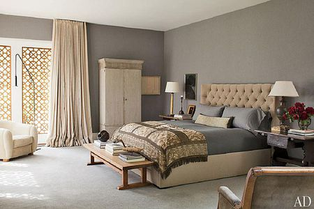 Ellen Degeneres And Portia De Rossi S Gray Bedroom