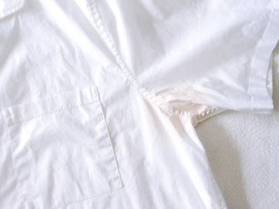 armpit stains on a shirt