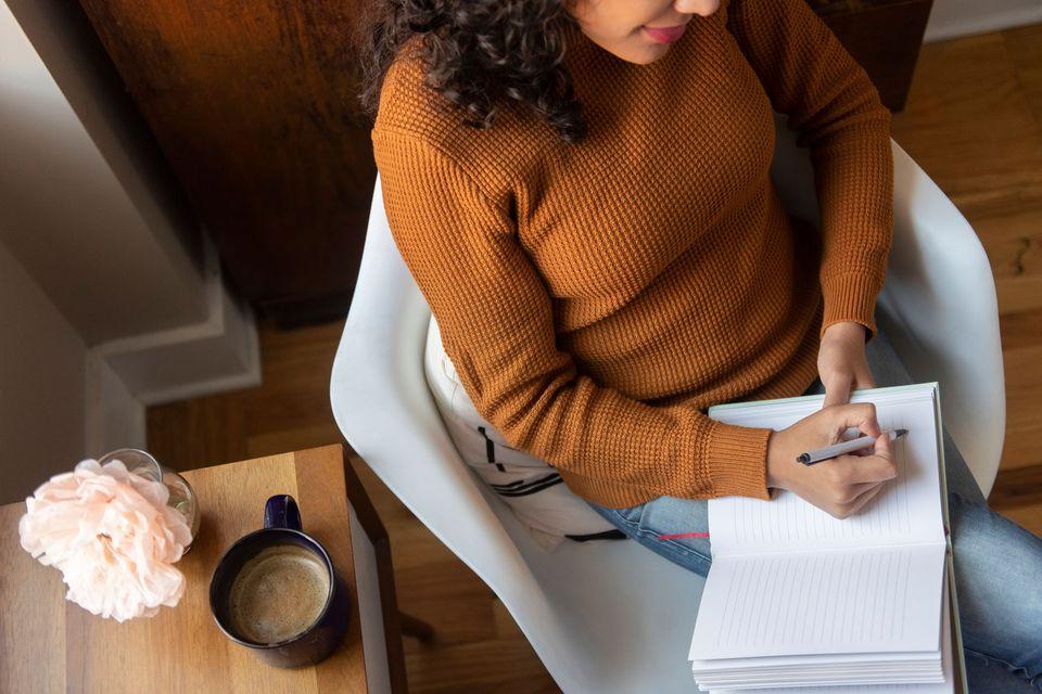 woman establishing a routine