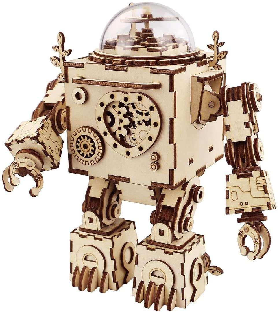 ROBOTIME 3D Puzzle Music Box Craft Kit
