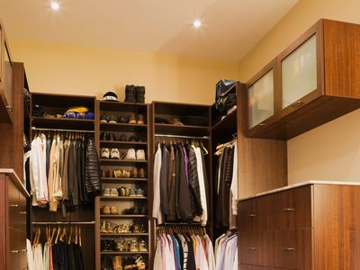 A luxury walk-in closet